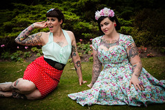 Jen & Haili - Rolling back the years (teltone) Tags: sexy fashion vintage glamour fairground retro tatoos alternative merseyside widnes