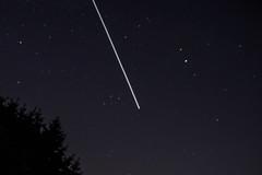 ISS passing overhead - take 2 (Larry Senalik) Tags: sky station night canon illinois space international dslr iss t3i 2013