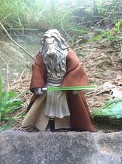 Jedi Master K'Kruhk the oldest living Jedi. (chevy2who) Tags: star action eu figure wars extended universe hasbro kkunhk