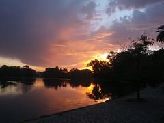 Sunset run (franciscozolezzi) Tags: trees sunset lake argentina lago atardecer dawn buenosaires quiet arboles cloudy stones capital lagos nubes nublado palermo federal ocaso tarde empedrado 3defebrero flickrandroidapp:filter=none lago3defebrero