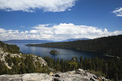 Emerald Bay (beatty.alex) Tags: california blue trees sky lake mountains water forest stars landscape outdoor south nevada tahoe emerald