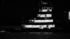 An Emerald Night (thetrick113) Tags: blackandwhite river tugboat hudsonriver barge hudsonvalley emeraldcoast towingvessel newburghnewyork dannmarinetowing mainironworks orangecountynewyork workingvessel petroleumbarge sonyslta65v emeraldcoastdannmarinetowing tugboatemeraldcoast