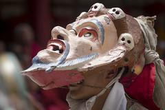 Smile - Tsechu Hemis - Sylvain Brajeul  (Sylvain Brajeul) Tags: voyage travel india color festival dance asia mask buddhist monk buddhism danse monastery asie himalaya ladakh monastre 2012 hada inde gompa tsechu hemis southasia moine bouddhiste khata bouddhism khada khadag sylvainbra