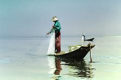 Net Fishing on Inle Lake (Artypixall) Tags: boat fisherman burma getty myanmar inlelake faa