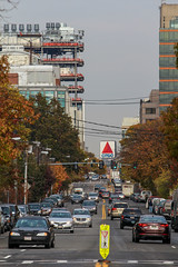 IMG_4311 (kz1000ps) Tags: autumn trees color fall leaves rain boston architecture hospital grey office construction cloudy steel massachusetts medical research frame laboratory area longwood diabetes citgosign brooklineavenue joslin longwoodcenter joslinplace