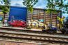 Fast Freight (Sky Noir) Tags: railroad car train graffiti tracks rail va boxcar ashland freight benching skynoir
