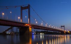 rhine-stars (Blende1.8) Tags: bridge reflection stars nikon bluehour brücke duisburg rhine rhein spiegelung sterne blauestunde d600 rheinbrücke friedrichebertbrücke impressedbeauty bestcapturesaoi