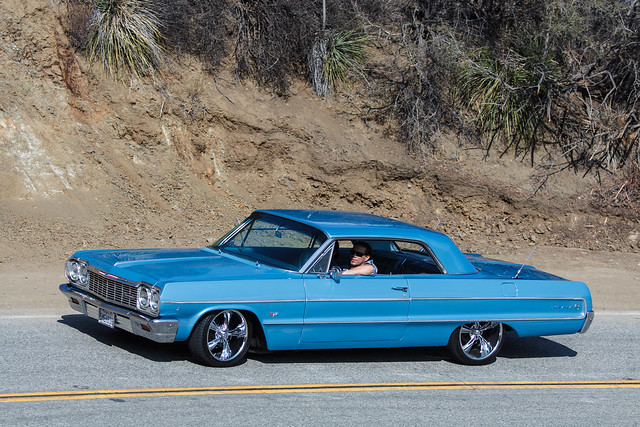 auto ca blue chevrolet car la losangeles gm chevy impala coupe spotting mulhollandhighway