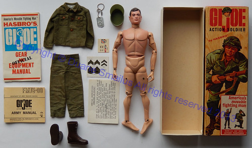 vintage HASBRO 1964 Salesman Sample Branded Heat Stamped GIJOE Action Soldier 3TM box