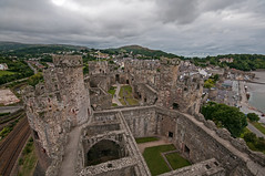 Conwy Castle (bvi4092) Tags: uk travel building castle abandoned wales architecture photoshop town nikon unitedkingdom interior ruin sigma historic 1020 conwy conwycastle townwall sigma1020 d300s