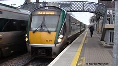 22016 at Portlaoise, 30/11/13 (hurricanemk1c) Tags: irish train rail railway trains railways irishrail rok rotem portlaoise icr iarnród 2013 22000 22016 éireann iarnródéireann 3pce 1415heustonportlaoise