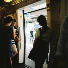 Until The Next Station (npbn) Tags: door tlr film station train thailand open kodak bangkok twin rail transportation thai arrive passenger filmcamera masstransit yashica th bkk bts twinlens kodakportra yashica635 2013 kodakportra160