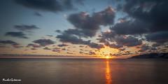 Atardecer azul (Nacho Gutirrez) Tags: sol atardecer mar playa cielo hora granada nubes panormica almuecar largaexposicin tercios