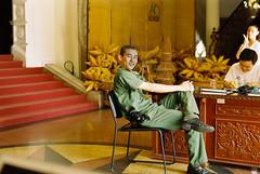 The Officer (khemchen) Tags: vietnamese police vietnam ao operahouse saigon officer hochiminh kodak200 nikonfm colorplus200