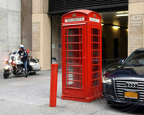 London Telephone (Security) Booth, Midtown Manhattan, New York City
