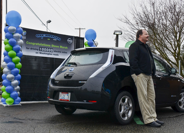 jl electricvehicle stevemarsh nissanleaf westcoastelectrichighway 100000allelectricmiles