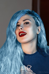 Beauty (Ekin Can Bayrakdar Photography) Tags: blue girl beauty fashion photoshop hair photography model glamour moda young colored retouch