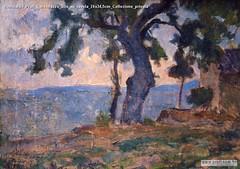 Romualdo Prati Caldonazzo olio su tavola 24x34,5cm Collezione privata
