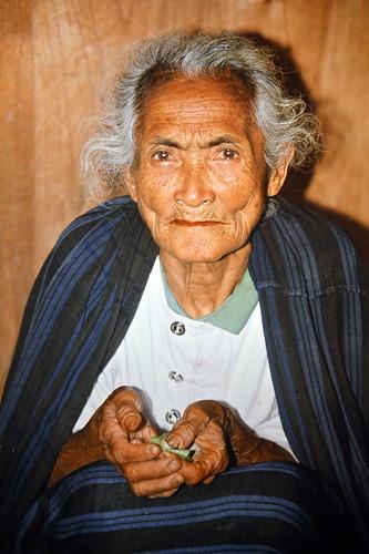 Indonesia - Flores - Bena - Old Woman