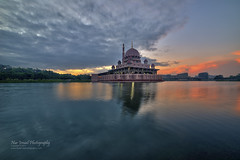 Sunrise at Putra Mosque (Nur Ismail Photography) Tags: sunrise putrajaya hdr placeofworship putramosque hdrphotography masjidputra putrajayalake sifoocom nikond800e nurismailphotography nurismailmohammed nurismail