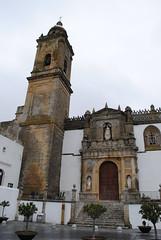 Entrada principal de la Iglesia de Santa María la Mayor la Coronada. Medina Sidonia