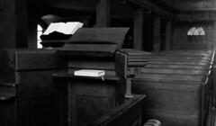 Werburgh Street Church 36 (Dave Road Records) Tags: ireland blackandwhite dublin church monochrome irishchurch woodenseats dublinchurch werburghstreet