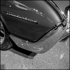 '61 T-Bird (AndreasGarcia) Tags: blackandwhite bw reflection ford 120 6x6 film monochrome car mediumformat square classiccar nighttime chrome thunderbird folder carshow tbird 120mm fujiacros cruisenight frankasolida filmisnotdead cencal thephotographyblog believeinfilm filmspiration filmisgod