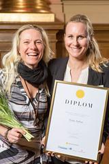 Eva Näslund-Carlsson och Jessica Jarmland från Nynas, nominerad till Web Service Award 2013 i klassen Intranät.