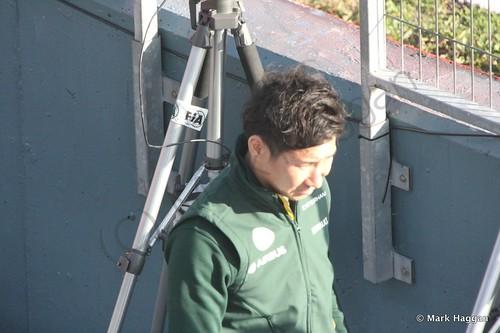 Kamui Kobayashi at Formula One Winter Testing 2014
