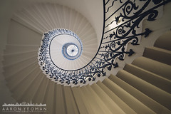 Elegance and Decorum (Aaron Yeoman) Tags: city uk greatbritain travel flowers blue light england urban white flower london window glass lines stone architecture stairs garden spiral europe unitedkingdom interior curves greenwich steps line clean indoors staircase gb handrail ironwork elegant agriculture curve vignetting vignette spiralstaircase balustrade detailing tulipstaircase a99 thequeenshouse tulipstairs samyang14mmf28edasifumc royalmuseumsgreenwich sonya99 slta99 sonyslta99 sonyalphaslta99