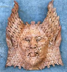 naga 3 (origami joel) Tags: face paper origami mask joel cooper tessellation origamijoel