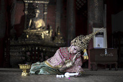 Crying Angel (Fevzi DINTAS) Tags: travel people tourism girl lady angel thailand temple dance model worship asia traditional pray culture places visit actress destination cry mystic weep nationalgeographic paza140