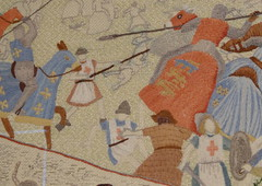 Battle of Lewes Tapestry (patrick l clinton) Tags: history record stitching sas lewes lewescastle sussexarchaeologicalsociety sussexpast