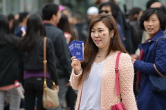 Melbourne Korea Festival 2014 (redstreaker) Tags: woman asian pretty candid korean lipstick koreafestival