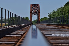 Bridge Reflection (DanielTestonPhotography) Tags: railroad bridge industry train river nikon highway colorful texas 21 tx country tracks transportation brazos