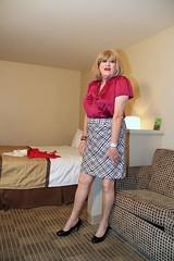 new97276-IMG_9306t (Misscherieamor) Tags: tv feminine cd motel tgirl transgender mature sissy tranny transvestite crossdress ts gurl tg travestis travesti travestie m2f xdresser tgurl satinblouse minpencilskirt