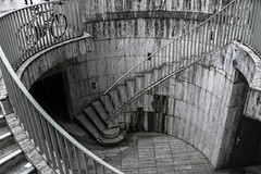 Deeper into Paris (Lucas.Klappas) Tags: paris france french europe stair staircases underground blackandwhite nocolor archi architecture photography angles photographer photos flickr canon nikon 2016