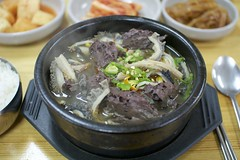 Korean Hangover Soup (Kim Jin Ho) Tags: hangover soup clotted blood intestine stomach soybean sprout kimchi korean food rice culture asian