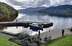 Loch Lomond, near Inversnaid. (Baz Richardson (catching up again)) Tags: scotland lochlomond inversnaid lakes piers smallboats launches inversnaidhotel