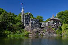 Spring (Bob90901) Tags: spring belvederecastle centralpark green newyorkcity manhattan rpg90901 turtlepond 2015 may 1032 morning nyc canon 6d canonef24105mmf4lisusm polarizer bwxsproksmmrccircularpolarizer architecture building castle park trees water pond