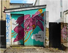 Frankie's Flamingoes (donbyatt) Tags: brighton streetart spraycans walls urban graffiti frankiestrand
