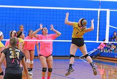 IMG_9966 (SJH Foto) Tags: girls volleyball high school lampeterstrasburg lampeter strasburg solanco team tween teen east teenager varsity net battle spike block action shot jump midair