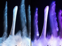 Fountain x2 in Olympic Park of Sochi/ x2     (DVchigarev) Tags: fountain party sochi russia amazing night autumm october subtropical olympic people canon 70d sigma 35 35mm 14 art hsm