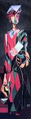 IMG_8268YA Roger Bissire. 1886-1964.  Figure debout. Figure standing. 1937. Colmar  Unterlinden. (jean louis mazieres) Tags: peintres peintures painting muse museum museo france colmar museunterlinden rogerbissire