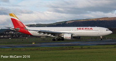 EC-LZJ A330 Iberia Glasgow Nov 2016 (pmccann54) Tags: eclzj airbusa330 iberia barcelonafc
