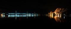 Bridge Reflections (Fifescoob) Tags: forth bridges calm reflect reflection mirror water river scotland canon fife edinburgh 5ds