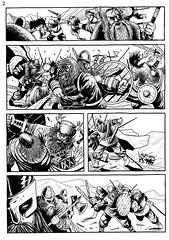 Vikings 02 (rafaeltpimentel) Tags: comics viking vikings comicbook page pajina historietas historiaemquadrinhos quadrinhos bandedessinee hq fumetti illustration illustrazione ilustração ilustracion desenho dessin dibujo diseno draw drawing battle fight