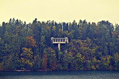 House of Cards (anvelvet) Tags: blejski otok bled forest autumn autumnleaves autumnforest music radiohead house cards nature beautiful slovenia architecture stone window lake