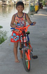 a boy and his bicycle (the foreign photographer - ) Tags: feb62016nikon boy bicycle colorfully dressed khlong lard phrao portraits bangkhen bangkok thailand nikon d3200