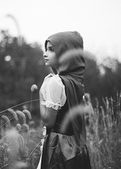 ... (AGraddyPhoto) Tags: canon canonef50mmf18stm canoneos6d blackandwhite adamgraddyphotography agraddyphoto daughter child portrait halloween littleredridinghood flickr